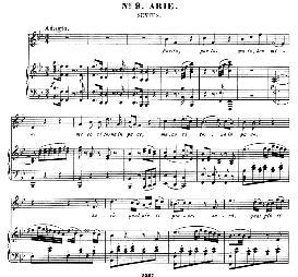 parto, parto...guardami e tutto obblio (mezzo aria). w.a.mozart: la clemenza di tito, k.621, vocal score. ed. peters leipzig, 1870 (italian)