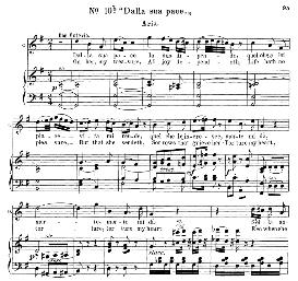 dalla sua pace (aria for tenor). with recitative