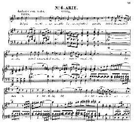 del più sublime soglio (tenor aria). w.a.mozart: la clemenza di tito, k.621, vocal score. ed. peters leipzig, 1870 (italian)