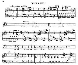 frisch zum kämpfe! (tenor aria). w.a.mozart: die entführung aus dem serail, k.384, vocal score (g. kogel). ed. peters (1881)