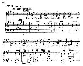 un aura amorosa (tenor aria). w.a.mozart: cosi fan tutte, k.588, vocal score (h. levi). universal edition (va 1666), italian, reprint from breitkopf (1898)