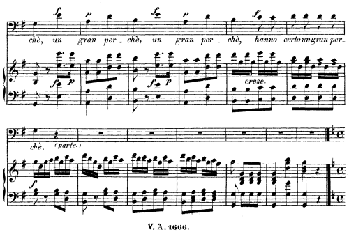 First Additional product image for - Donne mie, le fate a tanti (Aria for Bass or Baritone). W.A.Mozart: Cosi fan tutte, K.588, Vocal Score (H. Levi). UE  (VA 1666), italian, reprint from Breitkopf (1898)
