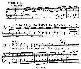 donne mie, le fate a tanti (aria for bass or baritone). w.a.mozart: cosi fan tutte, k.588, vocal score (h. levi). ue  (va 1666), italian, reprint from breitkopf (1898)