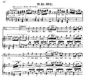 ein mädchen oder weibchen (aria for bass or baritone). w.a. mozart: die zauberflöte (the magic flute) k.620, vocal score (w. kienzl). universal edition ue 245 (1901)
