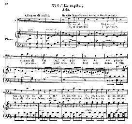 ho capito, signor, si! (aria for bass). w.a.mozart: don giovanni, k.527, vocal score. ed. schirmer, it-engl (1900)