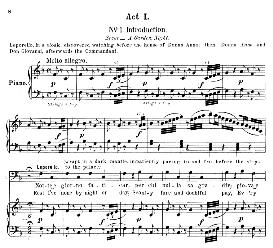 notte e giorno faticar (aria for bass). w.a.mozart: don giovanni, k.527, vocal score. ed. schirmer, it-engl (1900)