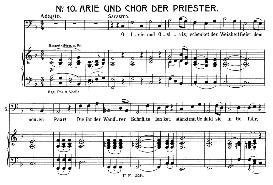 o isis und osiris (aria for bass). w.a. mozart: die zauberflöte (the magic flute) k.620, vocal score (w. kienzl). universal edition 245 (1901)