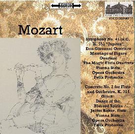 mozart: sym. no. 41/overtures/flute concerto no. 2