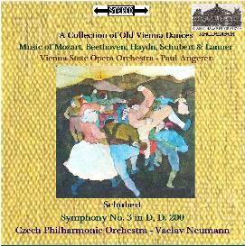 a collection of old vienna dances/schubert: sym. no. 3