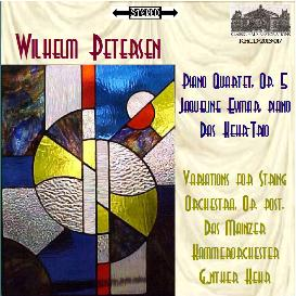 petersen: piano quartet; variations for string orchestra