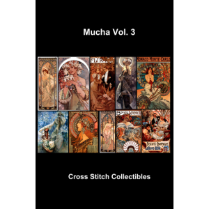 Alphonse Mucha Vol 3 Collection - cross stitch pattern by Cross Stitch Collectibles | Crafting | Cross-Stitch | Other