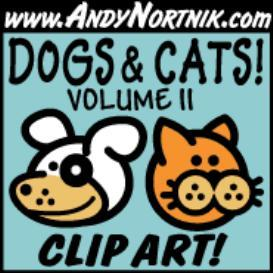dog clip art and cat clip art 2