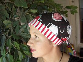 ladies tieback surgical scrub hat chemo hat sewing pattern