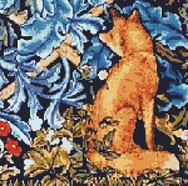 the fox cross stitch pattern