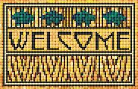 wheat welcome sign cross stitch pattern