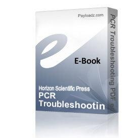 pcr troubleshooting pdf edition   (20% vat will be added if applicable)