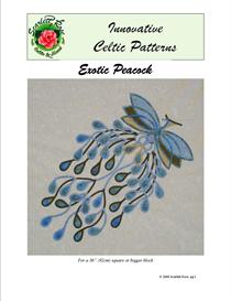 exotic peacock modern bias applique pattern