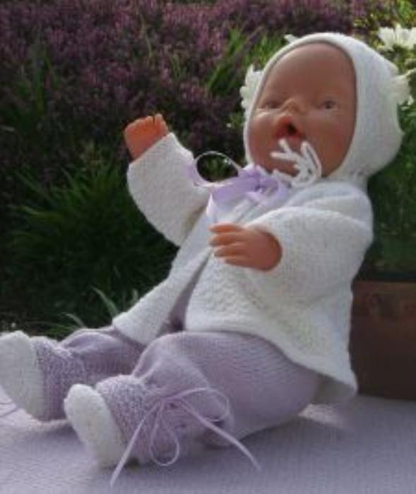First Additional product image for - DollKnittingPattern 0001D LISA - cardigan, hat, pants, socks and blanket-(English)