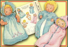 1940's Layette & 5  Cloth  Doll Vintage Pattern | eBooks | Arts and Crafts