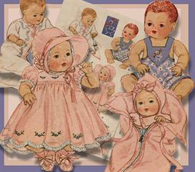 12-14 Baby Doll Layette 1937 vintage pattern | eBooks | Arts and Crafts