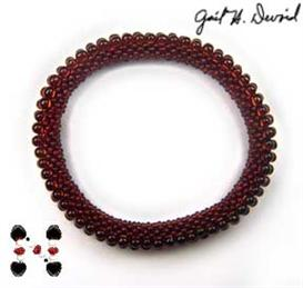 3-drop bead crochet bracelet