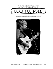 Kirby Heyborne - Beautiful Inside Guitar Tab and Lyrics | Music | Folk
