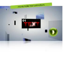 Movie Trailer Text Animations | Software | Software Templates