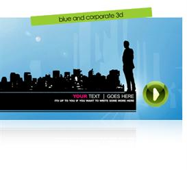 Blue & Corporate Vector 3D | Software | Software Templates