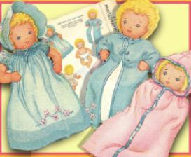 Make an 5 Cloth Baby Doll & 7 pc Layette! Circa 1940's!   eBooks   Arts and Crafts