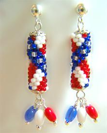 star and stripes earring pattern