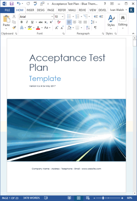 Second Additional product image for - Software Testing Templates – 50 MS Word + 40 Excel spreadsheets