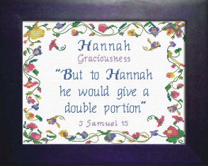 Name Blessings - Hannah 4 | Crafting | Cross-Stitch | Religious