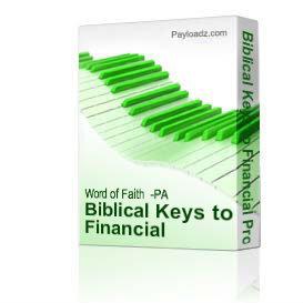 biblical keys to financial prosperity part 3