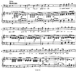 aprite un po' queg'li occhi (aria for baritone or bass). with recitative