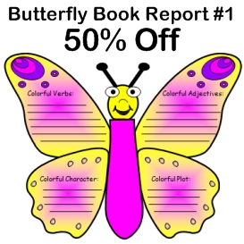 50% off butterfly book report projects #1