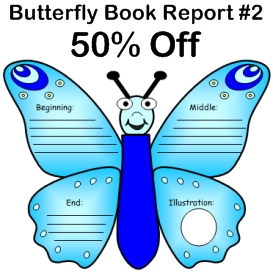 50% off butterfly book report #2 story elements