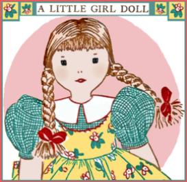 edith flack ackley 1930 cloth doll pattern - a little girl doll