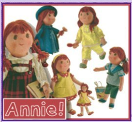 annie doll with her dolly too! old pattern