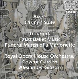 bizet: carmen suite; gounond: faust ballet/funeral march