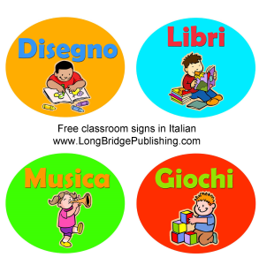 Printable classroom signs in Italian | Photos and Images | Children