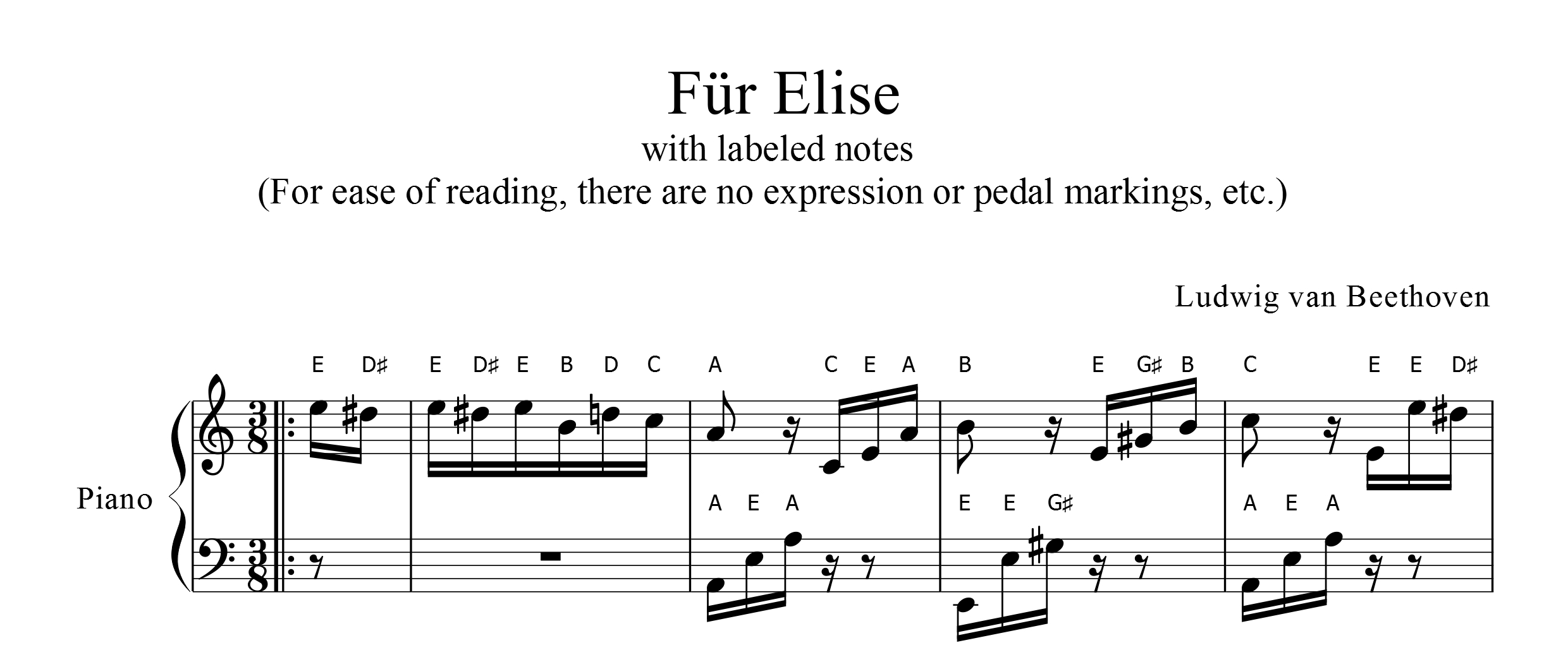 fur elise letter notes fur elise sheet ez 2 read format entire 21922