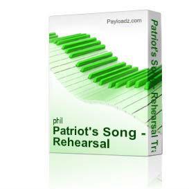 patriot's song - rehearsal tracks