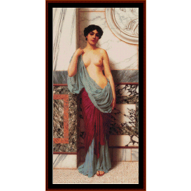 at the thermae - alma tadema cross stitch pattern by cross stitch collectibles