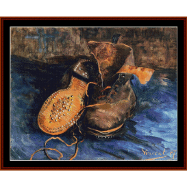 a pair of shoes - van gogh cross stitch pattern by cross stitch collectibles