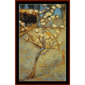 pear tree in blossom - van gogh cross stitch pattern by cross stitch collectibles
