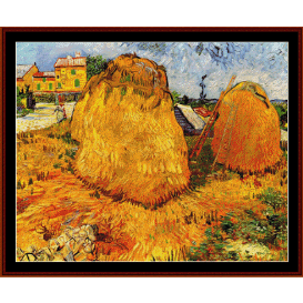 haystacks in provence - van gogh cross stitch pattern by cross stitch collectibles