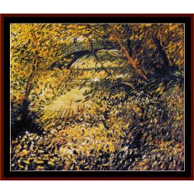 banks of the seine in spring - van gogh cross stitch pattern by cross stitch collectibles