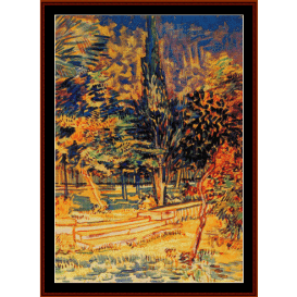 stone steps in the asylum garden - van gogh cross stitch pattern by cross stitch collectibles