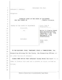motion to dismiss vehicle code 23123 charge