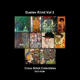 gustav klimt vol 3 dvd collection - cross stitch pattern by cross stitch collectibles